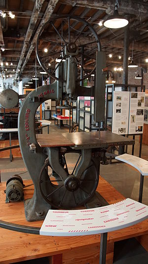 Edouard Mennig - Band saw by Edouard Mennig exhibited at La Fonderie, Brussels Museum of Industry and Labour