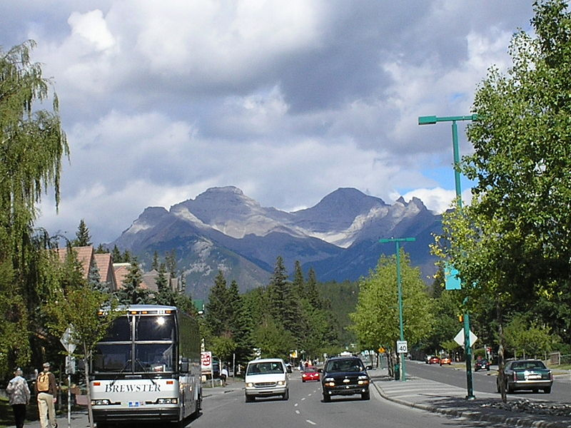 De ônibus de Calgary até Banff