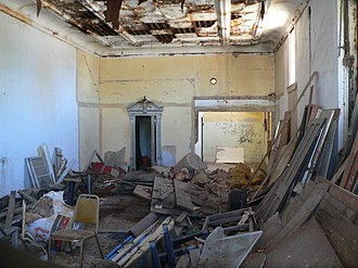 National Register of Historic Places listings in Ellis County, Oklahoma - Image: Bank of Gage (Oklahoma) interior facing SW 1