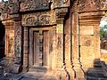 Banteay Srei - 014 Temple showing False Doorway (8582552948).jpg
