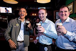 Barack Obama celebrates Saint Patrick's Day 2012