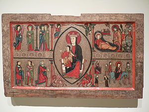 Altar frontal from Cardet - Image: Barcelona MNAC P1290645