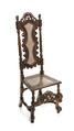 Barockstol, svarvad och snidad med sits och rygg av rottingflätning, 1700 cirka - Hallwylska museet - 108423.tif