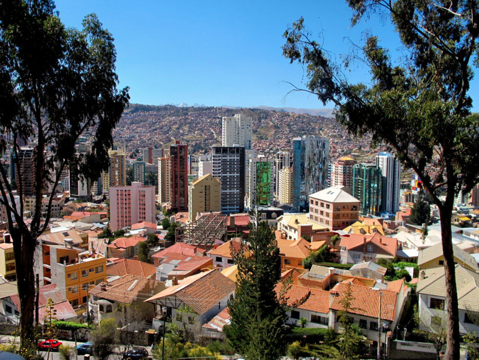 Barrio San Jorge en La Paz, Bolivia