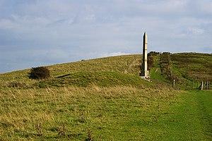 Ballard Down - The obelisk at Ballard Down