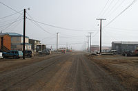 The city of Utqiaġvik, Alaska in July 2008.