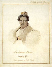 Barthélémy Lauvergne - 'Princess Kinau', watercolor and ink wash over graphite, 1836, Honolulu Academy of Arts.jpg