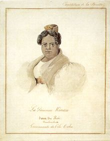 Barthélémy Lauvergne - 'Princess Kinau', watercolor and ink wash over graphite, 1836, Honolulu Academy of Arts.jpg