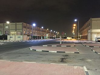 Human rights in Qatar - Barwa Al Baraha at night.