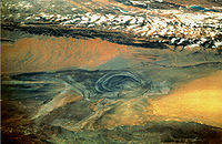 Basin of Lop Nur 90.25E, 40.10N, Desert of Lop, Kum Tagh and Astin Tagh.jpg