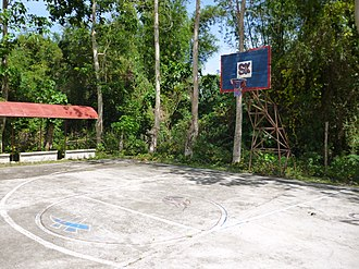 Sangguniang Kabataan - Basketball hoop with SK logo in Barangay Tungay, Santa Barbara, Iloilo