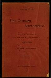 Cesare Battisti: Una campagna autonomistica