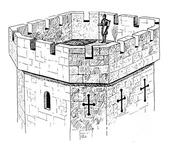 Battlement - Drawing of battlements on a tower