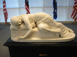 St. Louis Mercantile Library - Statue of Beatrice Cenci (1857)