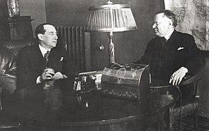 Maxim Litvinov - Józef Beck and Maxim Litvinov. Moscow, February 1934