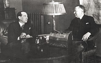 Foreign relations of the Soviet Union - Maxim Litvinov with Polish foreign minister Józef Beck in Moscow, February 1934