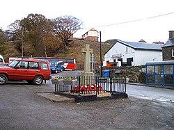 Bedlinog War Memorial and rugby club - geograph.org.uk - 79896.jpg