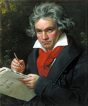 Ludwig van Beethoven was almost completely deaf when he composed his ninth symphony.