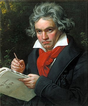 Symphony No. 9 (Beethoven) - Portrait of Ludwig van Beethoven in 1820: Beethoven was almost totally deaf when he composed his Ninth Symphony.