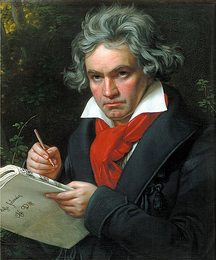 Portrait of Beethoven by Joseph Karl Stieler, 1820 Beethoven.jpg