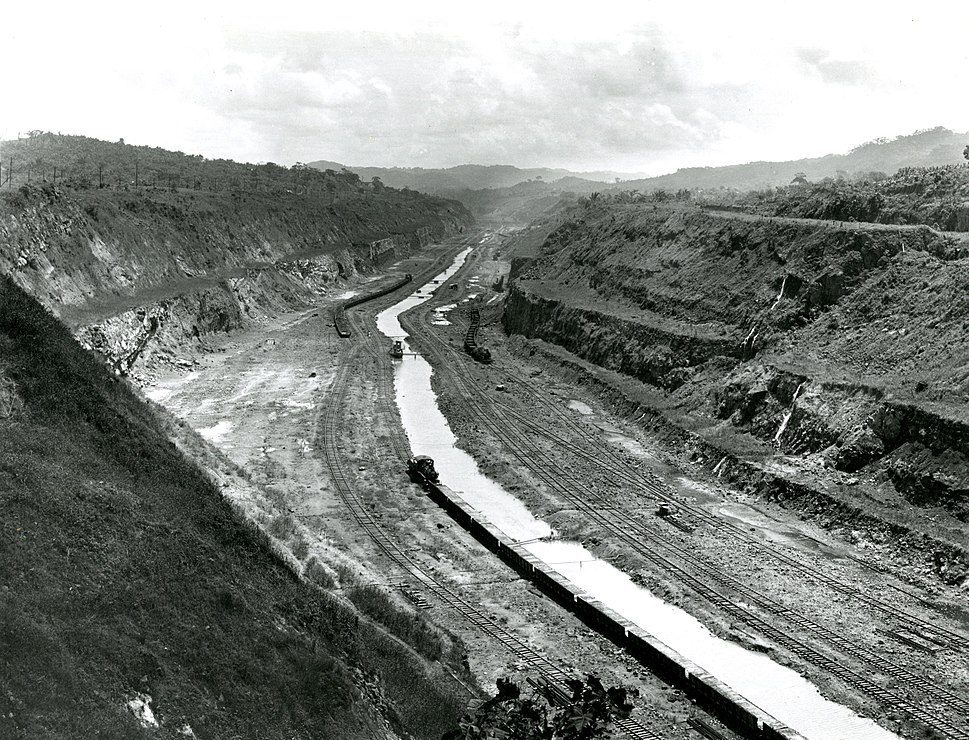 Before Photograph of the Panama Canal