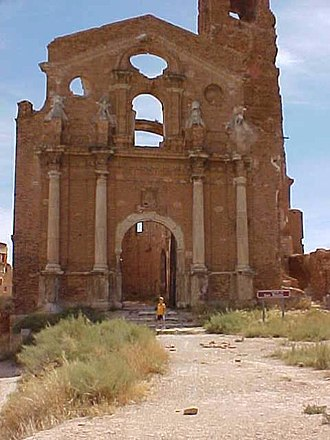 Battle of Belchite (1937) - Belchite: ruins of the old village