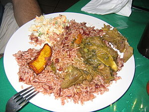 Belizean cuisine - A traditional Belizean dinner.