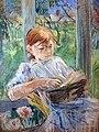Bemberg Fondation Toulouse Jeune fille lisant de Berthe Morisot Pastel 44x33.jpg