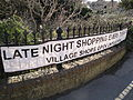 Bembridge Foreland Road late night shopping banner.JPG