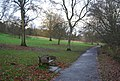 Bench by Cheshire Rd, Mote Park - geograph.org.uk - 1610481.jpg