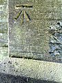 Benchmark on buttress of St Giles Church - geograph.org.uk - 2176402.jpg