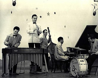 Benny Goodman - Benny Goodman and his band on the DuMont TV network's Star Time, ca. 1950.