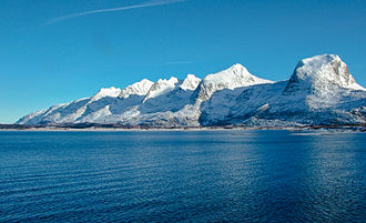 Nordland - The Seven Sisters islands from the MS Finnmark Hurtigruten ship in March 2005.
