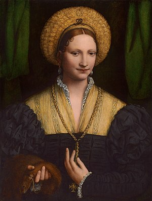 Bernardino Luini - Portrait of a Lady, National Gallery of Art, Washington, D.C. 1515