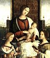 Bernardino di Bosio Zaganelli - Madonna and Child with Sts Mary Magdalene and Catherine of Alexandria - WGA25936.jpg