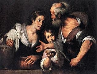 Prophet Elias und die Witwe von Sarepta