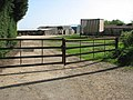 Bexwell Hall Farm, says the sign on the gate - geograph.org.uk - 1262862.jpg