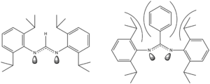 Quintuple bond - Steric effects on a bidentate ligand