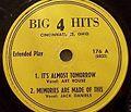 Big 4 Hits 176 A - It'sAlmostTomorrow-MemoriesAreMadeOfThis.JPG