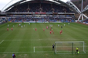 Kirklees Stadium - A match against Swindon Town in February 2010