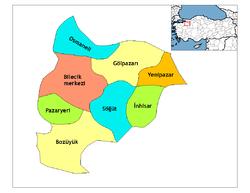 Vị trí của Bilecik