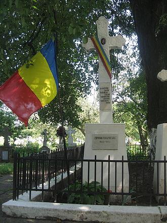 Ciprian Porumbescu - His tomb at San Demetrio church in Stupca