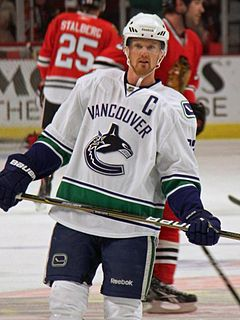 Henrik Sedin Swedish ice hockey player