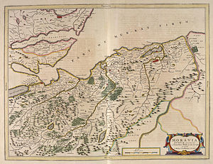 County of Moray -  Moravia in Blaeu's 1654 Atlas of Scotland