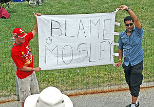 Formula One Fans at the controversial 2005 Uni...
