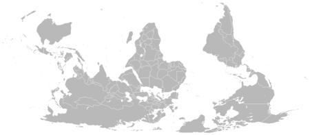 Διάταξη χάρτη με τον νότο στην κορυφΠΒικιπαίδεια