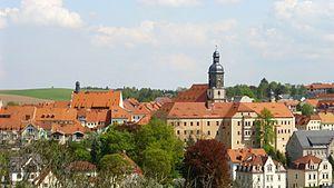 Dippoldiswalde - Image: Blick auf die Stadt Dippoldiswalde