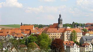 Dippoldiswalde Place in Saxony, Germany