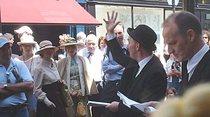 [Wikipedia] Bloomsday performers outside Davy Byrne's pub