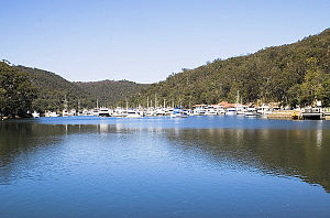 Bobbin Head, New South Wales - View of the marina at Bobbin Head